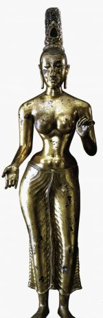 Gilded bronze figure of Tara