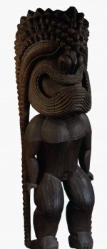 Wooden figure of the war god Ku-ka ili-moku