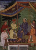 Manohar, Emperor Jahangir receiving his two sons