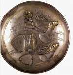 Silver plate showing Shapur II