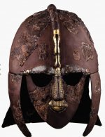Helmet from the ship burial at Sutton Hoo