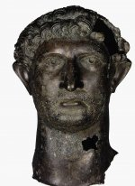 Bronze head from a statue emperor Hadrian