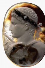 Cameo portrait of Augustus