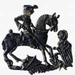 Lead pilgrim badge depicting St. George and the dragon