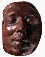 Wax death mask of Oliver Cromwell