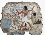 'Fowling in the marshes', fragment of wall painting from the tomb of Nebamun