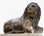 Colossal marble lion from a tomb monument