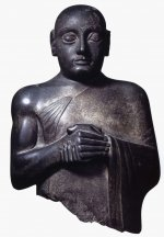 Diorite statue, probably of Gudea of Lagash