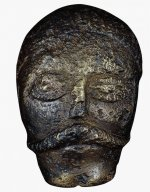 Bronze model of a human head